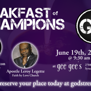 Men's Breakfast of Champions, June 19th, 2021